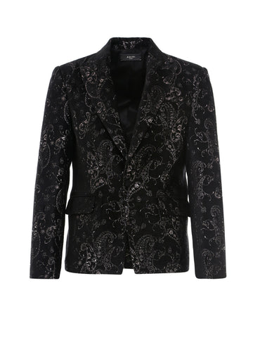 Amiri Paisley Embroidered Blazer