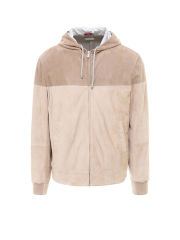 Brunello Cucinelli Colour Block Hooded Jacket