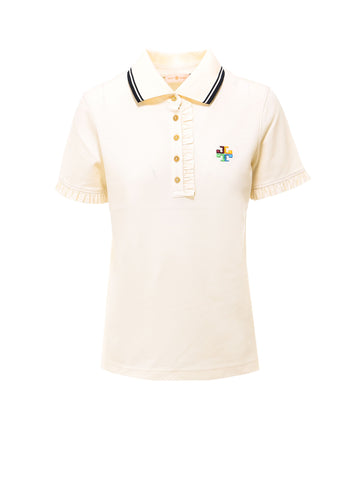 Tory Burch Ruffle Polo Shirt