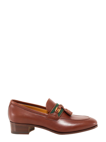 Gucci Web Interlocking G Loafers