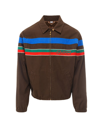 Gucci Stripe Zip Up Jacket