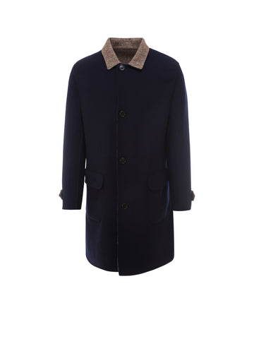 Brunello Cucinelli Single Breasted Reversible Coat