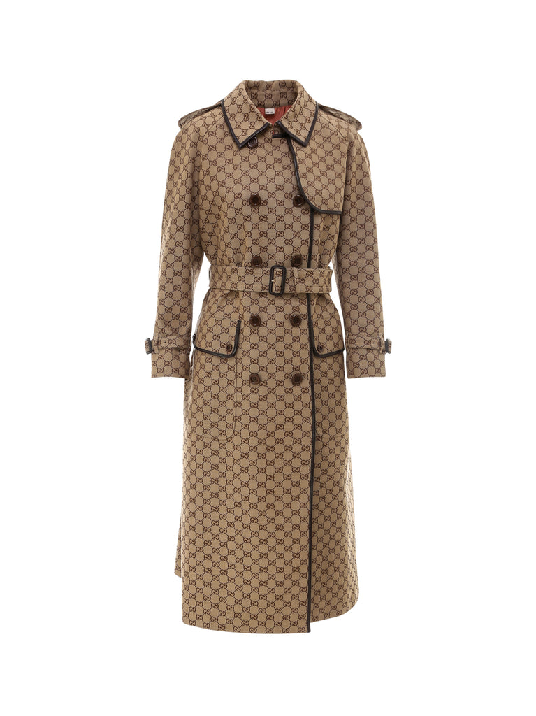 Gucci GUCCI GG MOTIF TRENCH COAT