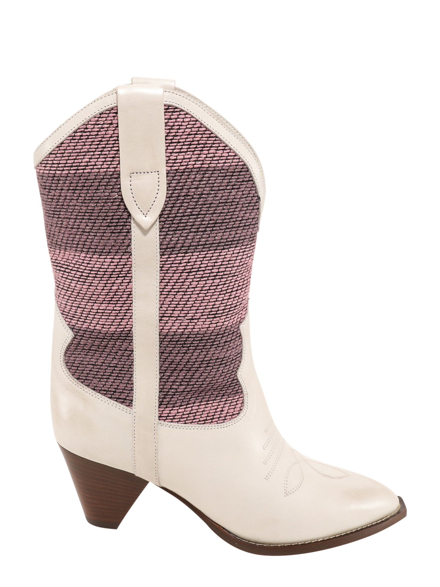 Isabel Marant Leathers ISABEL MARANT STRIPED PATCHWORK BOOTS