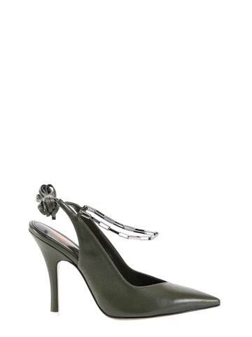 The Attico Venus Chain Slingback Pumps