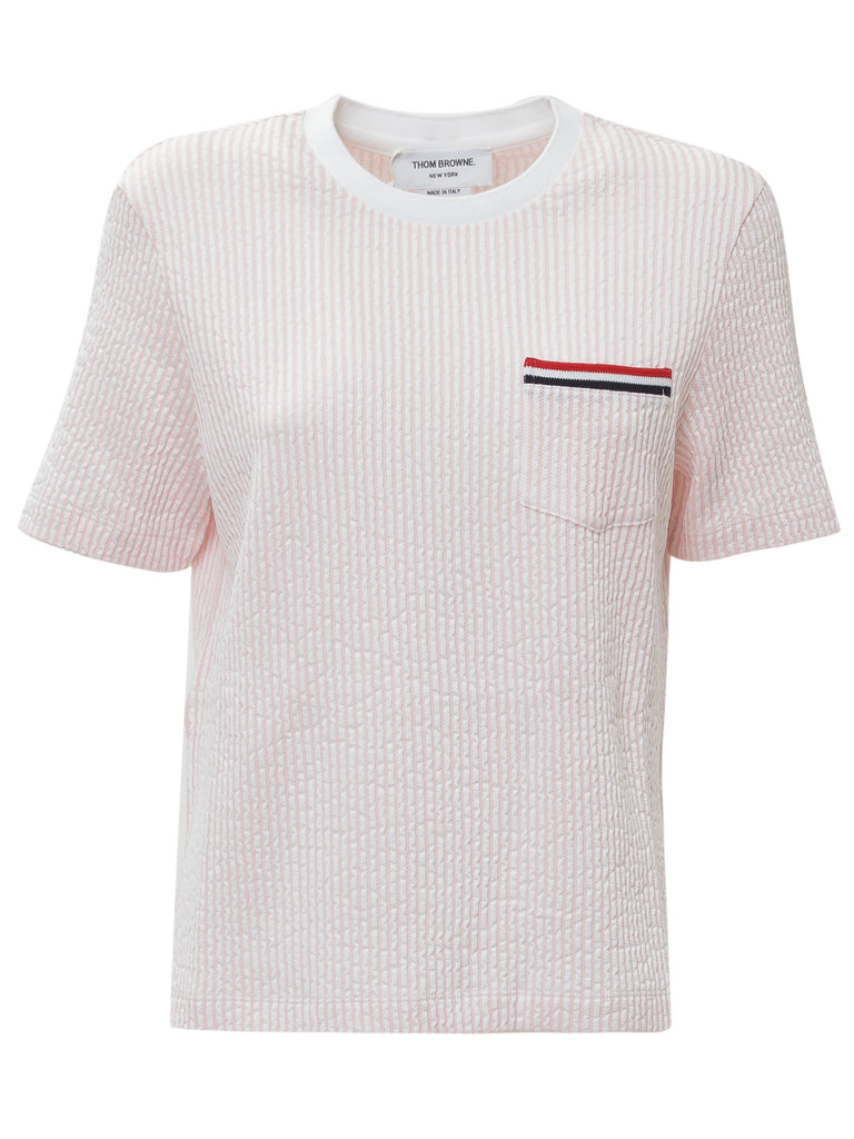 Thom Browne Cotton T-shirt In Pink