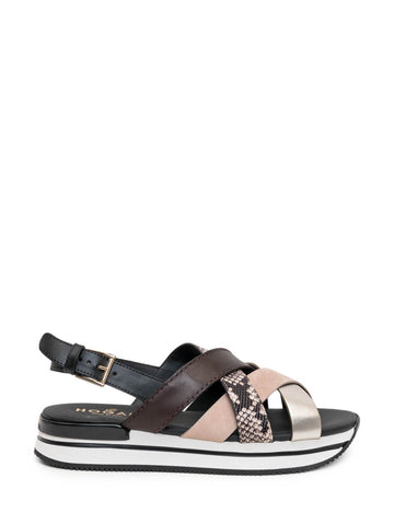 Hogan H222 Crossed Sandals