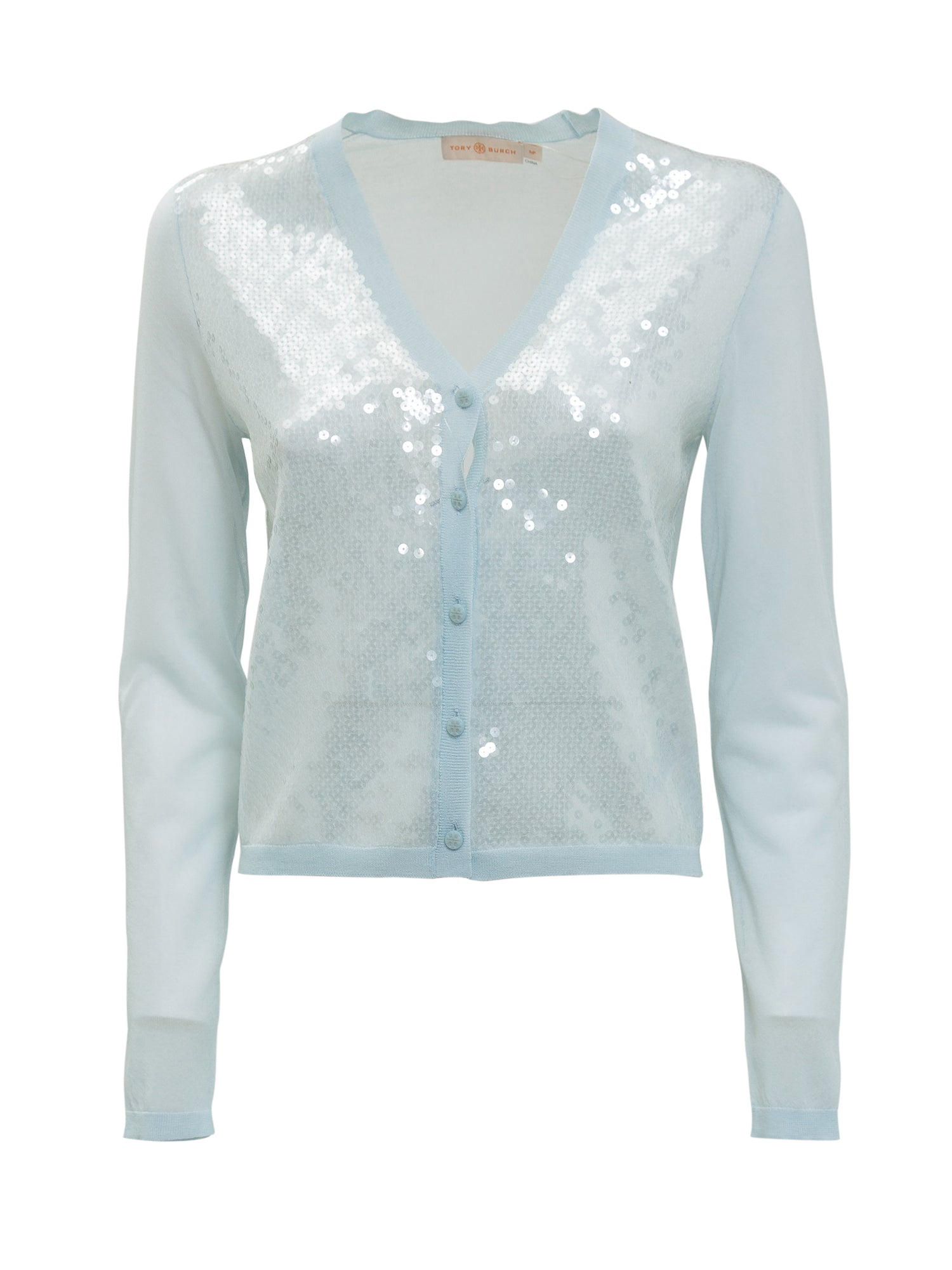 Tory Burch Cottons TORY BURCH SEQUIN FRONT SIMONE CARDIGAN