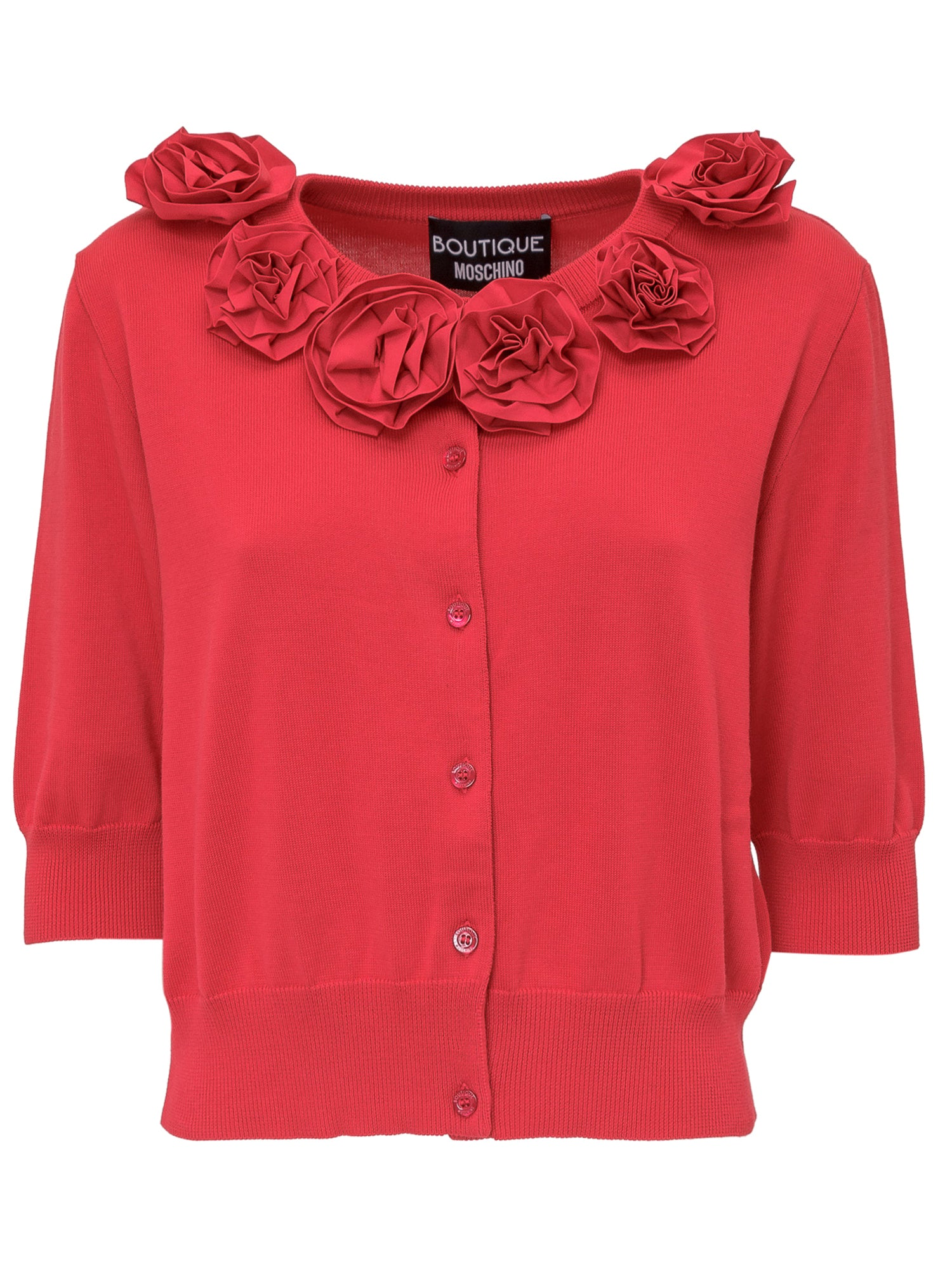 Boutique Moschino Cottons BOUTIQUE MOSCHINO FLORAL COLLAR CARDIGAN