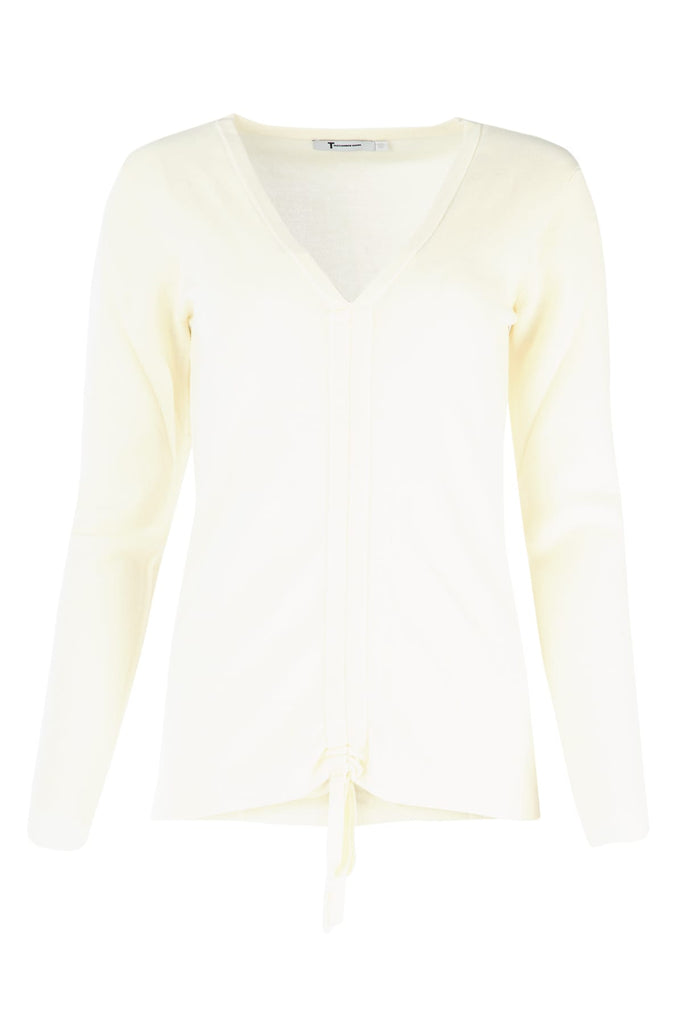 Alexander Wang Front Ruched Sweater