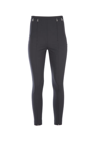 Alexander Wang High Waisted Zip Detailed Leggings