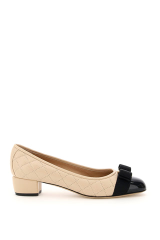 Salvatore Ferragamo Quilted Vara Bow Pumps