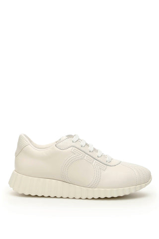 Salvatore Ferragamo Gancini Low-Top Sneakers