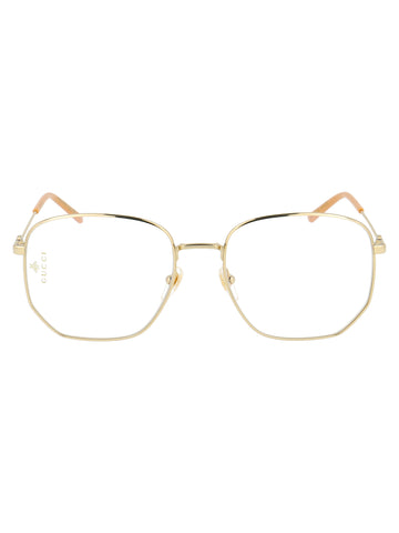 Gucci Eyewear Hexagon Frame Glasses