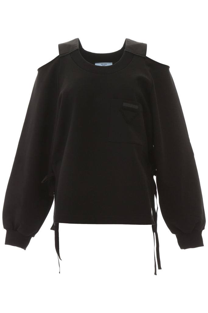 Prada Open Shoulder Sweatshirt