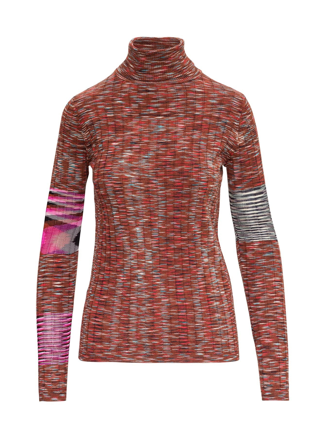 M Missoni M MISSONI CONTRAST PANELS TURTLENECK JUMPER
