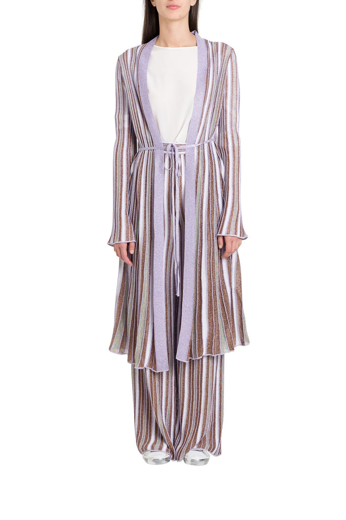 M Missoni Striped Long Cardigan