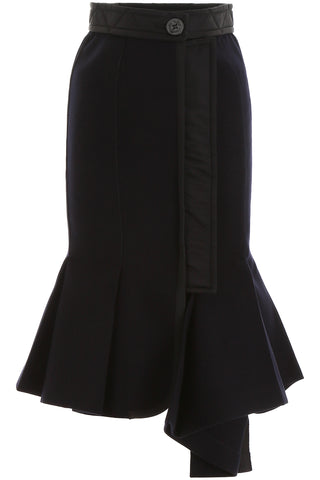 Sacai Flared Hem Skirt