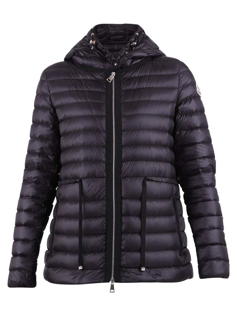 Moncler Hooded Puffer Jacket In Black