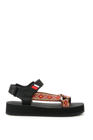 Prada Embroidered Straps Sandals