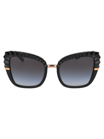 Dolce & Gabbana Eyewear Plissè Cat-Eye Sunglasses