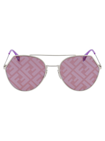 Fendi Eyewear FF Monogram Aviator Sunglasses