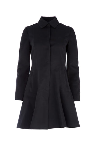 Valentino Single Breasted Flared Coat