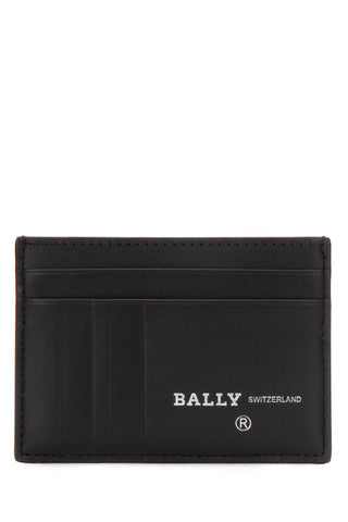Bally Stripe Embossed Logo Card Holder