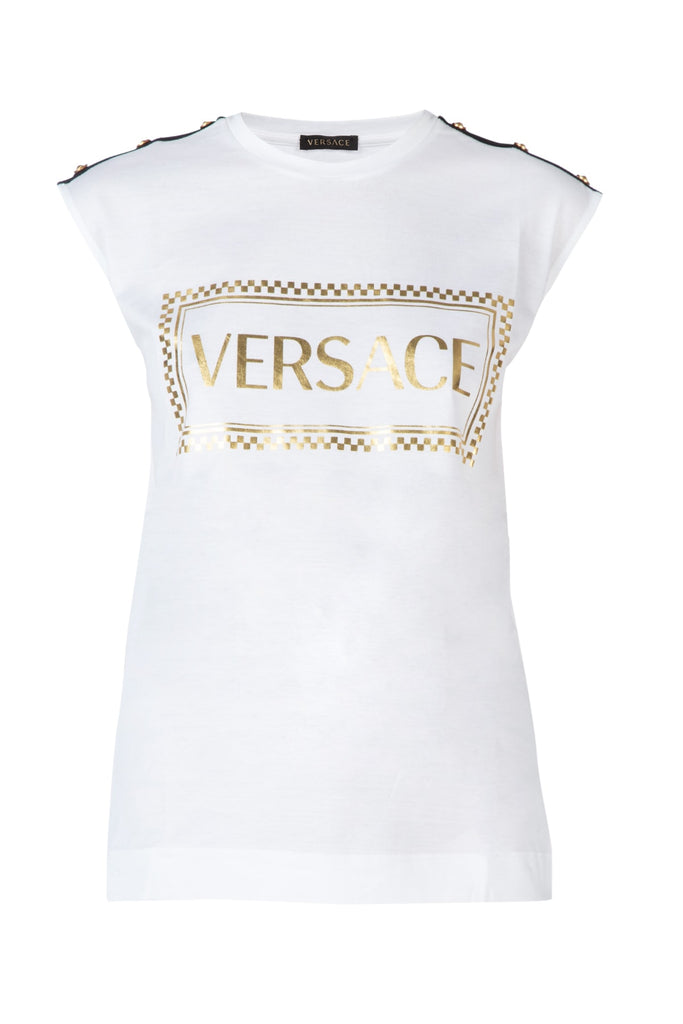 Versace 90S Vintage Logo Muscle T-Shirt