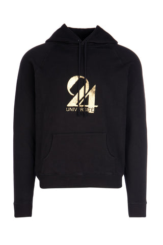 Saint Laurent Printed Drawstring Hoodie