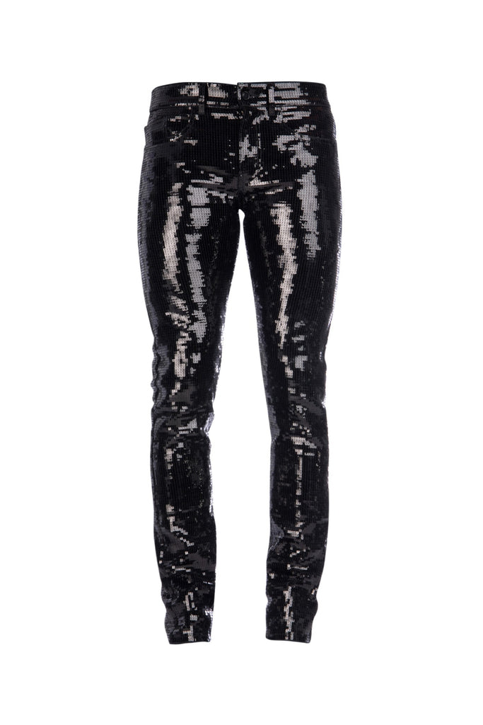 Saint Laurent All Over Sequin Skinny Pants