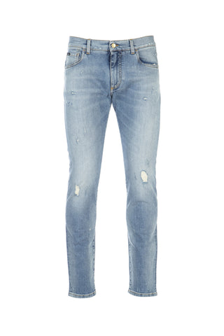 Dolce & Gabbana Distressed Straight Fit Jeans
