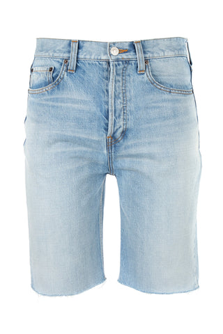 Balenciaga Frayed Edge Denim Shorts