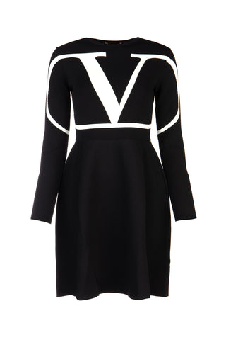 Valentino VLogo Flared Skater Dress