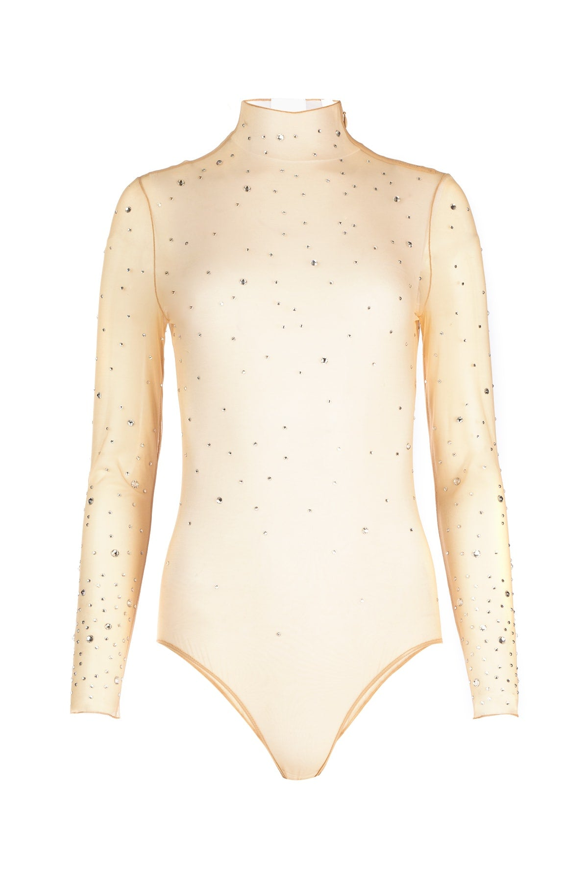 Burberry Suits BURBERRY SHEER CRYSTAL EMBELLISHED BODYSUIT