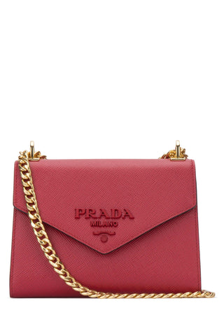 Prada Logo Plaque Envelope Crossbody Bag