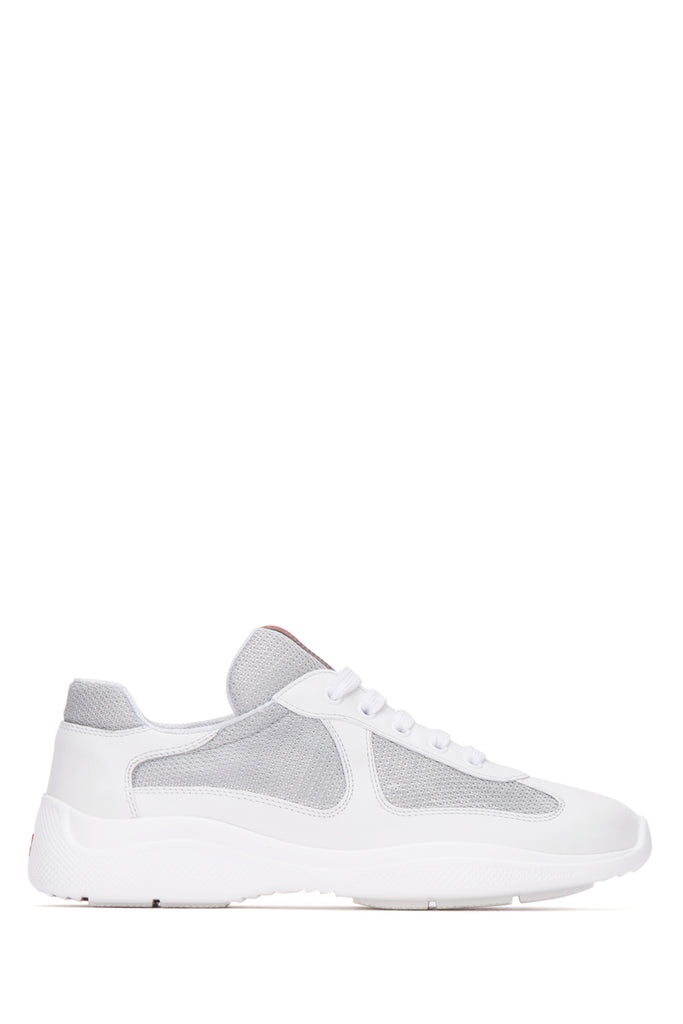 Prada Contrasting Panelled Low-Top Sneakers