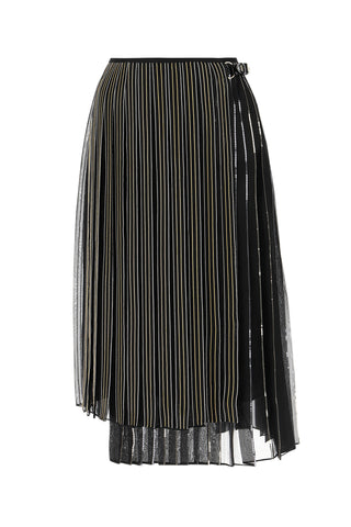 Fendi Pinstripe Embellished Pleated Skirt