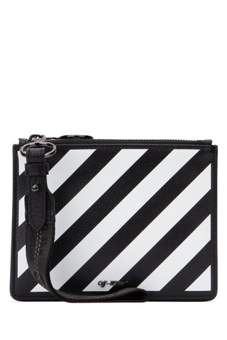 Off-White Diag Zipped Clutch Bag