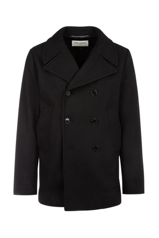Saint Laurent Double-Breasted Pea Coat