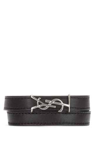 Saint Laurent Double Wrap YSL Bracelet