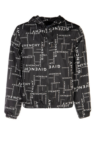 Givenchy All Over Logo Hooded Jacket