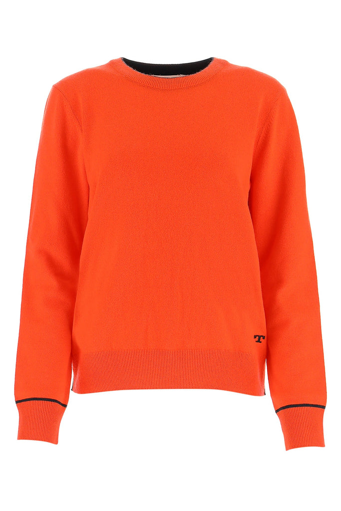 Tory Burch Crew Neck Sweater In Red