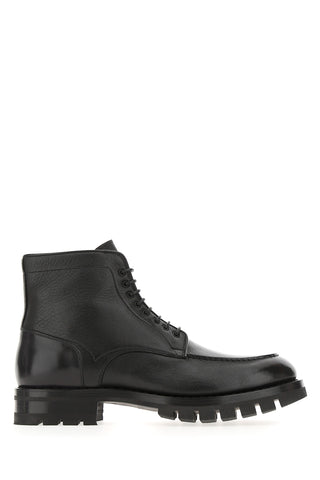 Santoni Lace-Up Ankle Boots