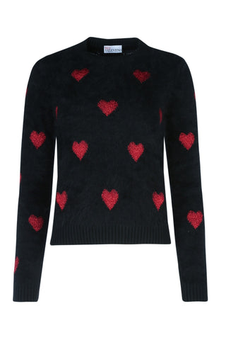 Red Valentino Hearts Knitted Jumper