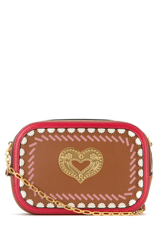 Bally Swirl Heart Detail Crossbody Bag