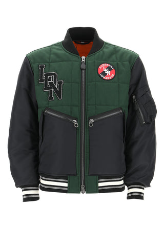 Burberry Quilted Logo Patch Bomber Jacket