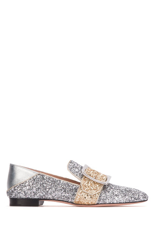 Bally Janelle Glitter Buckled Loafers