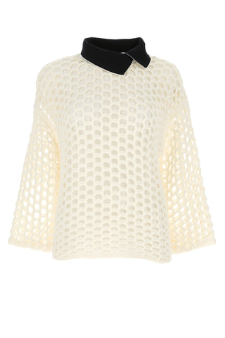 3.1 Phillip Lim Open Knit Collared Jumper