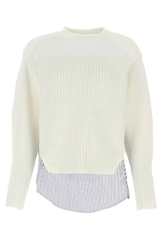 3.1 Phillip Layered Striped Knitted Sweater